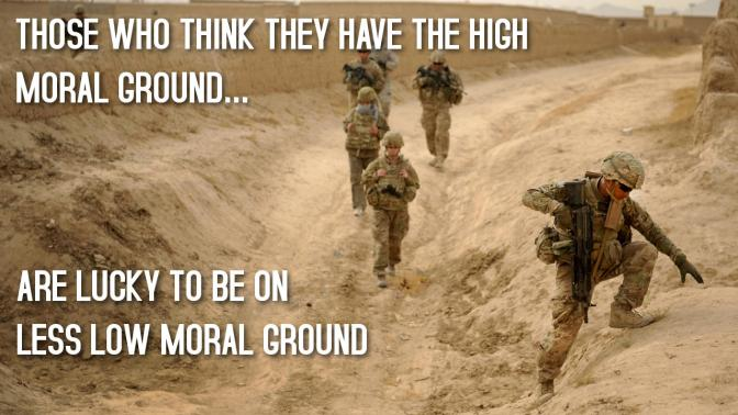 The Less Low Moral Ground