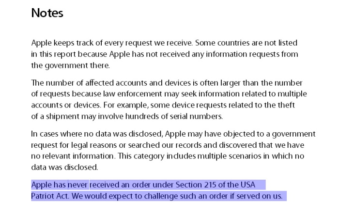 Apple warrant canary